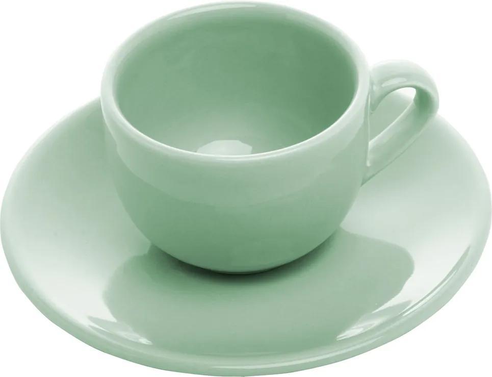 Conjunto 6 Xícaras Cerâmica Para Café Com Pires Alanya Eden 125ml