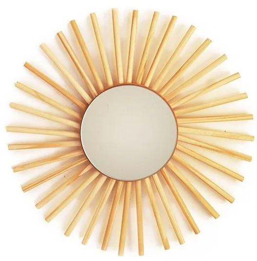 Espelho mini sol em pinus