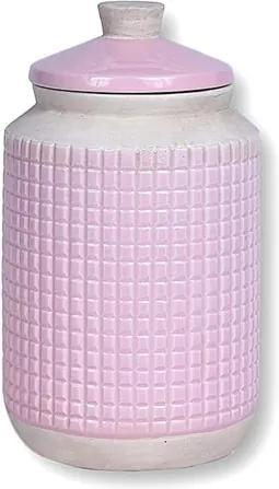 Pote Ridek em Cerâmica - Rosa - 24x14cm