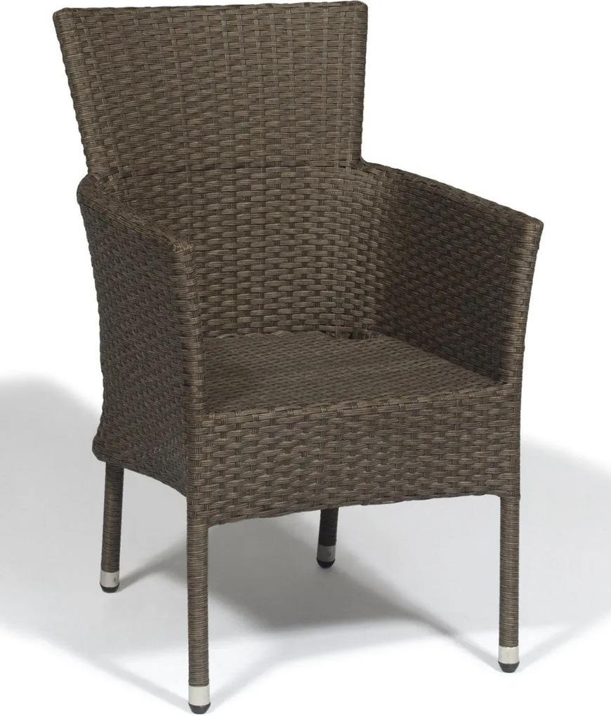 Cadeira de Aluminio Odder - Fibra Sintética - Cor Marrom