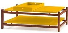 Mesa de Centro Vintage Trio Amarelo