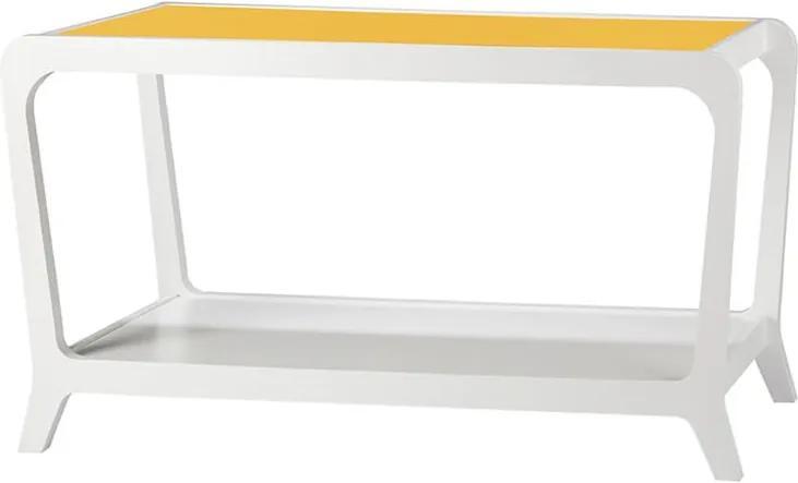 Aparador Mabras Retrô Branco / Amarelo
