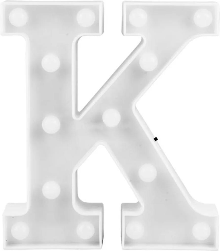 Luminária Adoraria Letra Led K Luminosa Branco