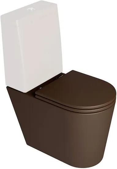 Bacia Sanitária para Caixa Acoplada Link Marrom Fosco P230 - Deca - Deca