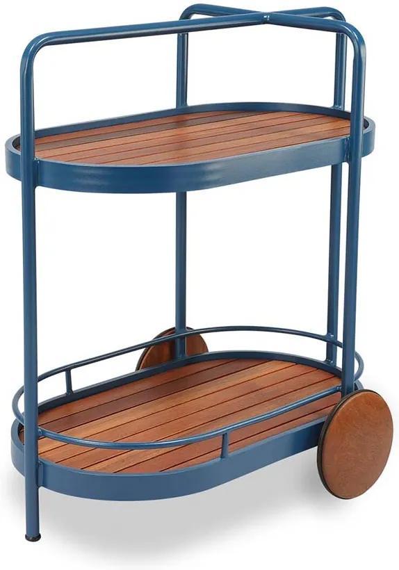 Carro de Chá Oregon Tampo Deck Cumaru Estrutura Alumínio Eco Friendly Design Scaburi