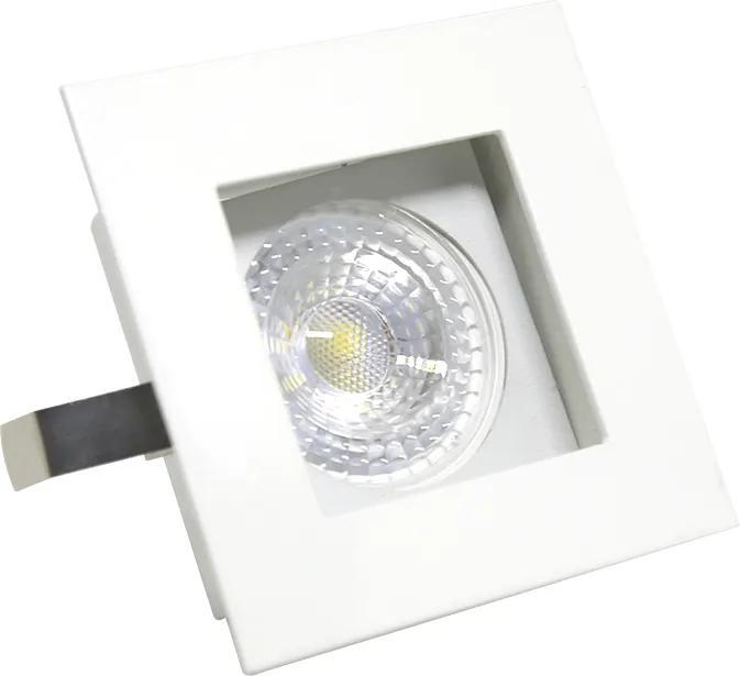 Plafon Embutir Aluminio Branco 8,5cm