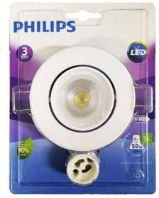 Spot Led Embutir Philips Policarbonato 5W Redondo 6500K