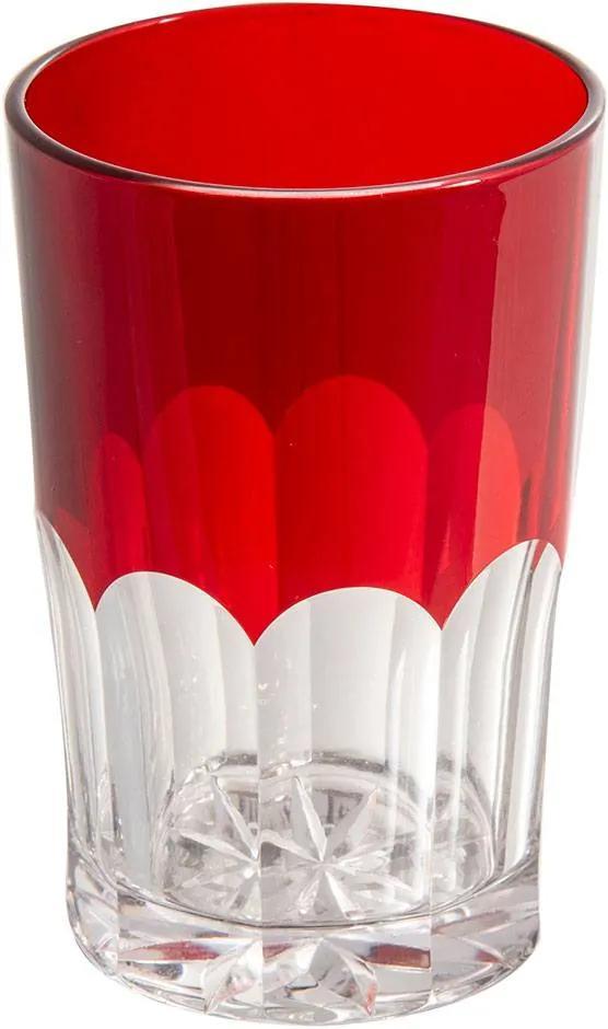 Copo de Cristal 150ml Vermelho Lodz