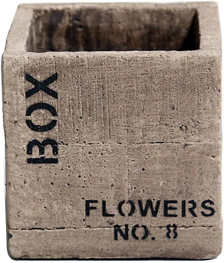 Vaso Quadrado Flower NO 8 Areia