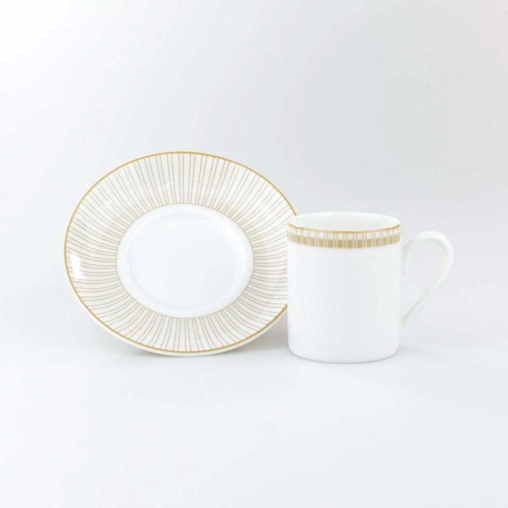 Xícara Café Com Pires 80 ml Porcelana Schmidt - Dec. Vera