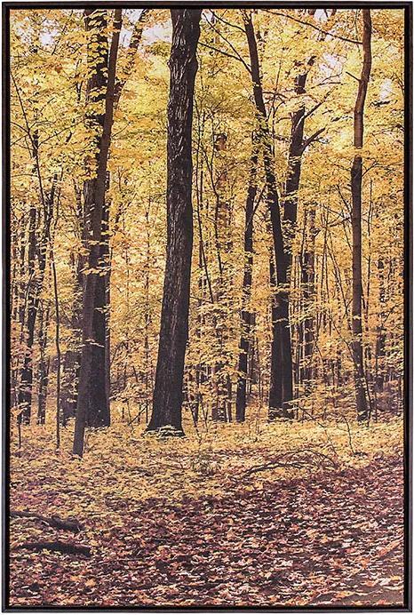 Tela Outono I em Canvas - 50x70cm - Moldura Imbuia  Kleiner Schein