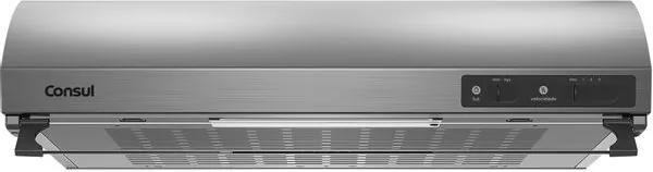 Depurador de Ar Consul 60 cm Inox 4 bocas silencioso com filtro lavável 220V