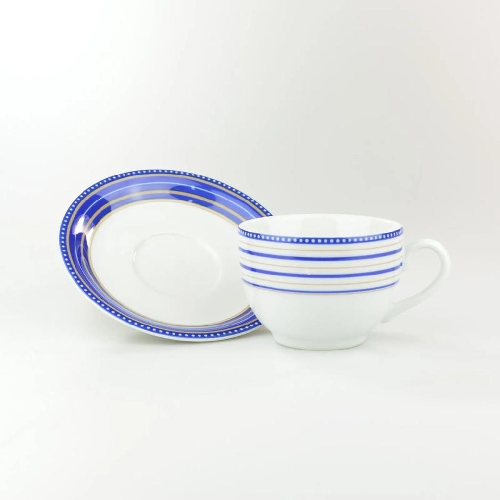 Xícara Chá Com Pires 200 ml Porcelana Schmidt - Dec. Paula