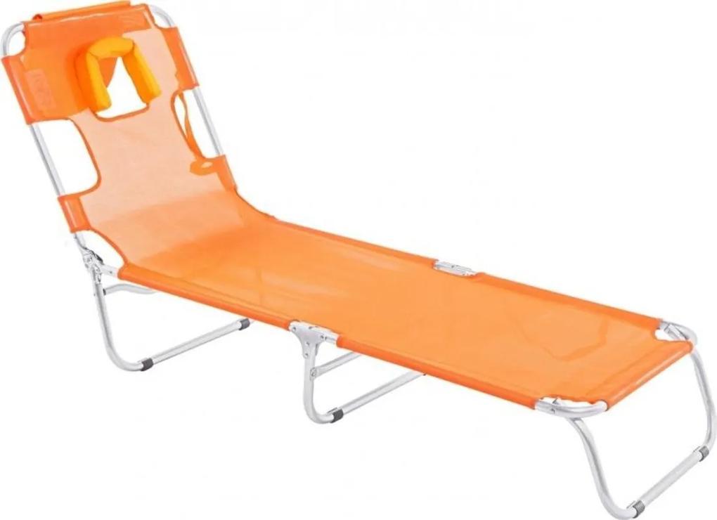 Cadeira Mormaii  Espreguiçadeira em Alumínio Laranja