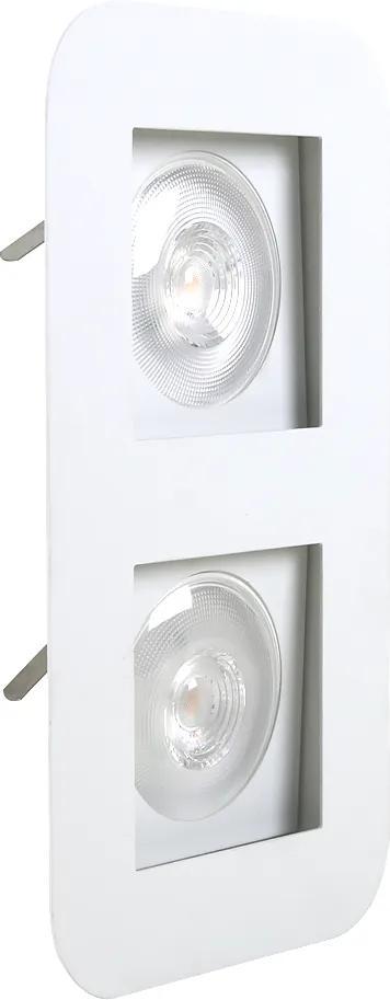 Plafon Embutir Aluminio Branco 33cm