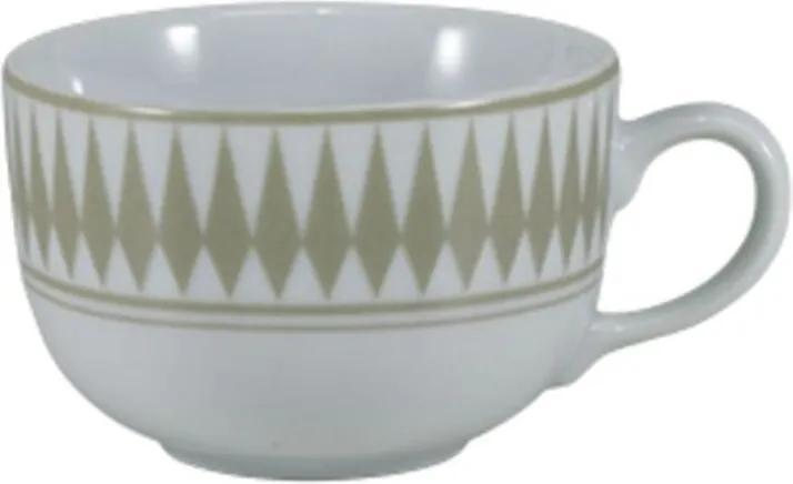 Xícara Café com Pires 100 ml Porcelana Schmidt - Dec. Helena Fendi