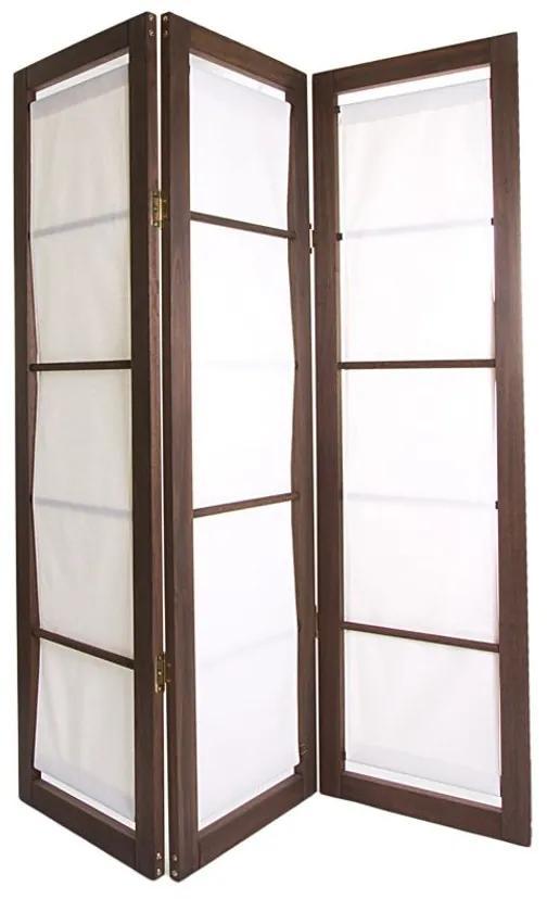 Biombo 3 Asas Dominoes Tecido - Wood Prime MR 248782