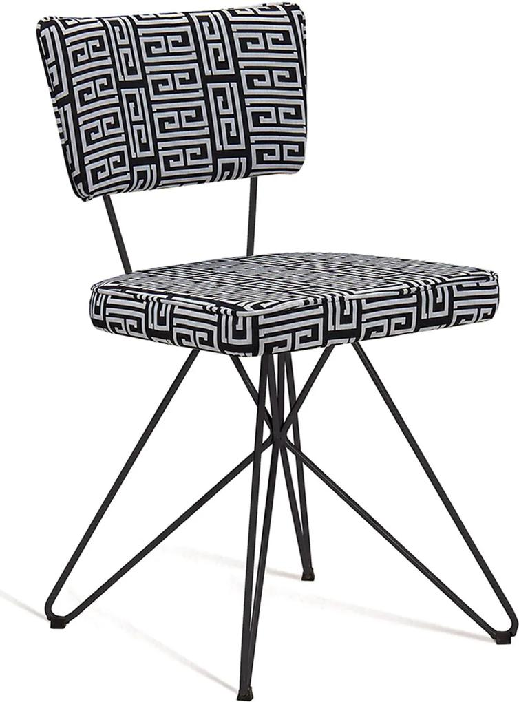 Cadeira Butterfly Retrô Preto e Branco DAF