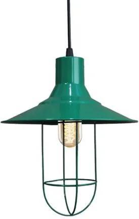 Pendente Retrô Verde com Lâmpada Filamento de Carbono T45 220V SL2557 Toplux