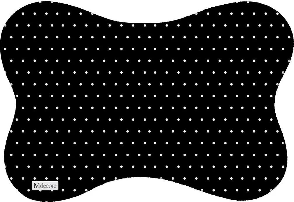 Tapete PET Mdecore Bolinhas Preto46x33cm