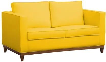 Sofá Aspen 145cm 2 Assentos 2 Lugares Suede Amarelo - D'Monegatto