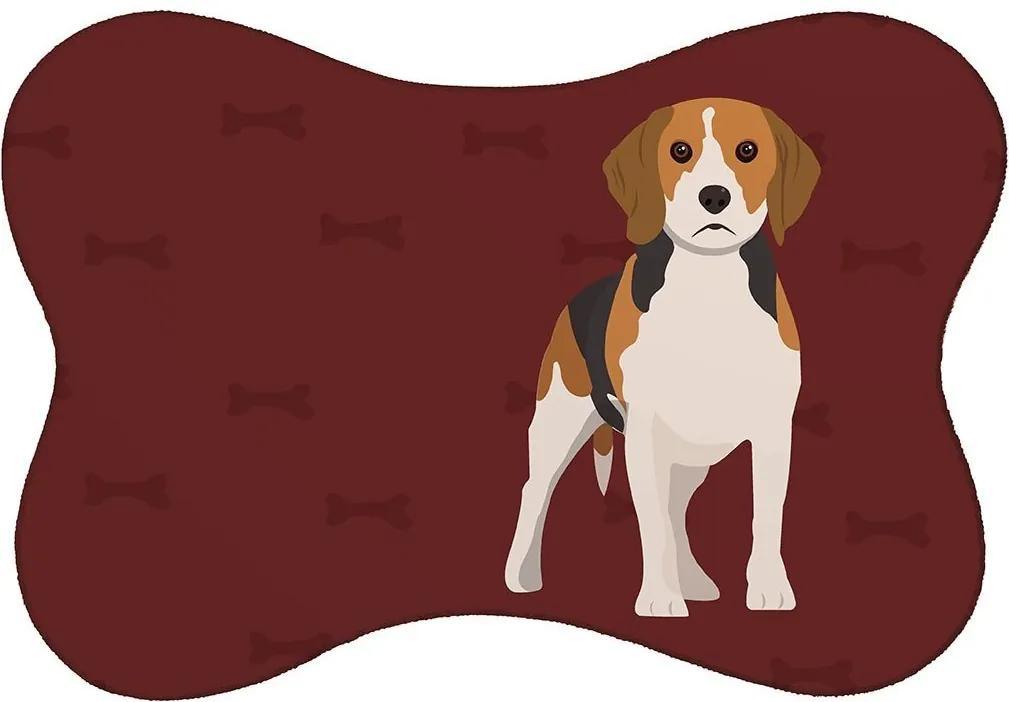 Tapete PET Mdecore Beagle Bordô46x33cm
