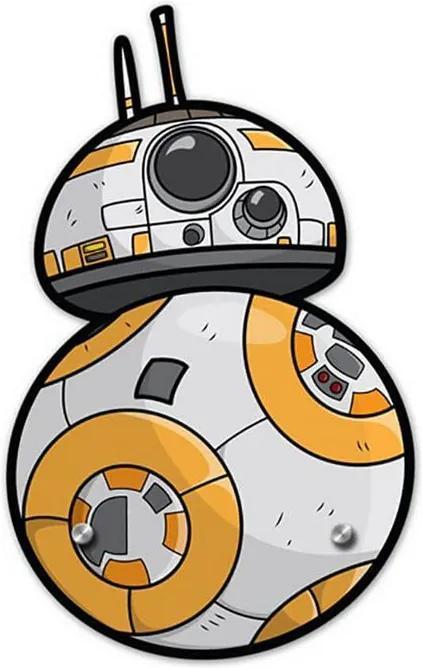 Cabideiro Gancho de Parede BB8 - Star Wars
