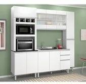 Cozinha Completa Modulada Malu Branco em MDF 4 Módulos Nicioli