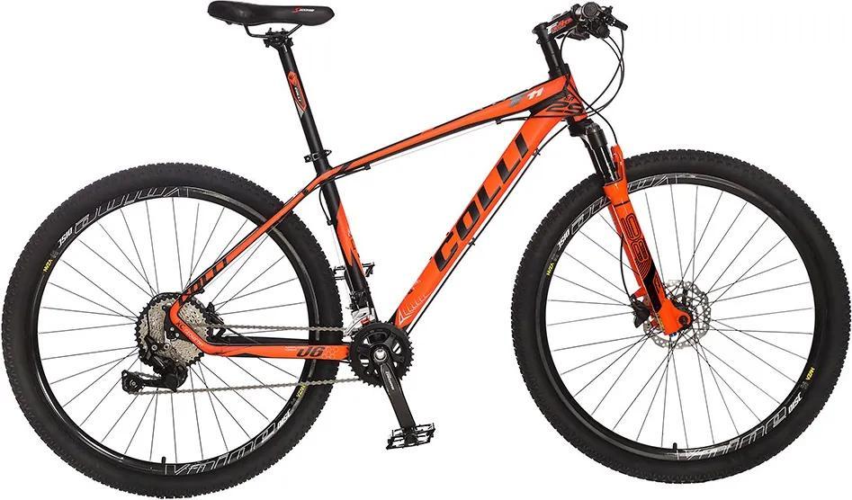 Bicicleta Colli F11kit Deore shimano Aro 29 Freio hidráulico Quadro 20V Alumínio - Colli Bike  - Laranja - 17