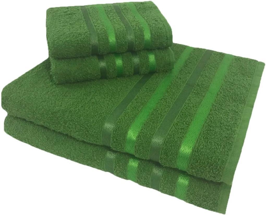 Jogo de Toalha 4 Peças kit de toalhas 2 banho 2 rosto Jogo de Banho Verde