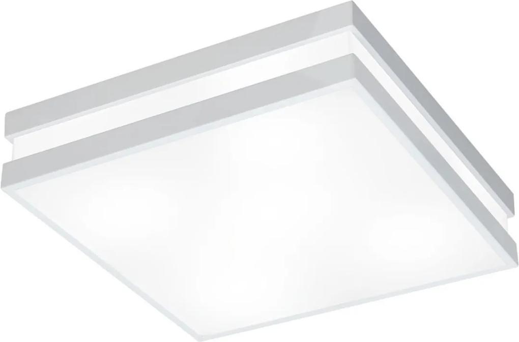 Plafon Sobrepor Aluminio Branco 45,5cm Quadrus