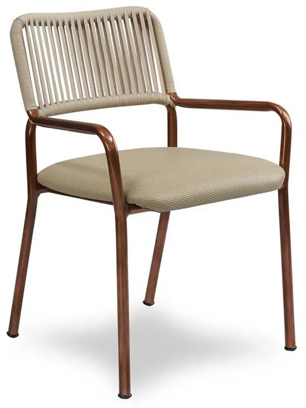 Cadeira Maori Área Externa Trama Corda Náutica Estrutura Alumínio Eco Friendly Design Scaburi