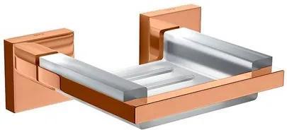 Saboneteira Clean Red Gold com Base em Resina - 2010.GL.CLN.RD - Deca - Deca