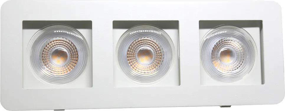 Plafon Embutir Aluminio Branco 27cm
