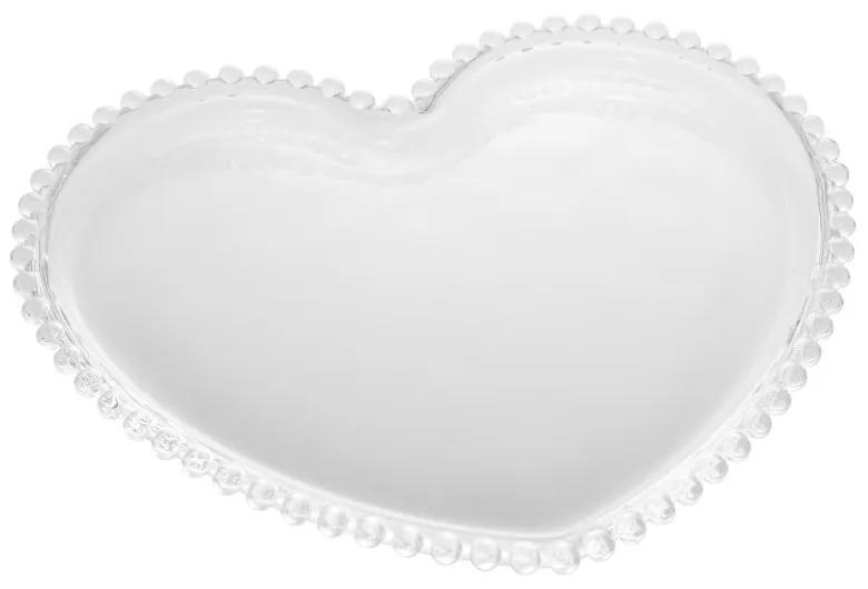 Prato Raso Cristal Coração Pearl 30x25x2cm 28374 Wolff