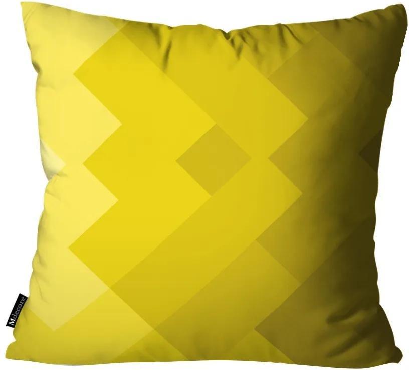 Capa para Almofada Abstrato Amarelo55x55cm