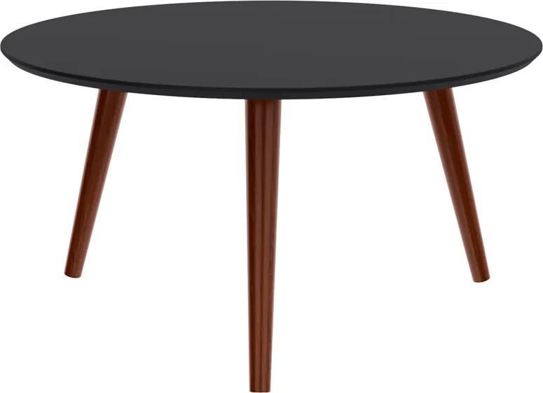 Mesa de Centro Pés Palito Marius 70x70 cm Preto - Wood Prime TS 34307