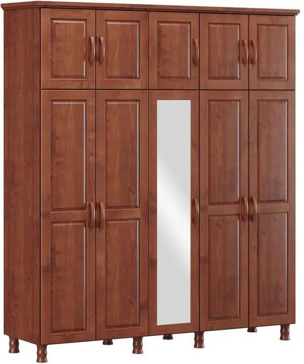 Roupeiro Bipartido 10 Portas Holbox Imbuia - NS 47082