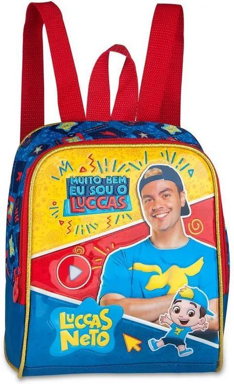 """Lancheira Luccas Neto 16"""" - Azul - Clio Style Blue"""