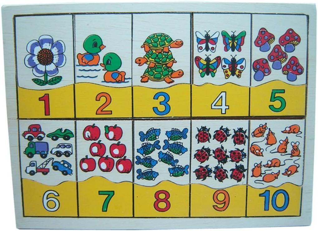 Jogo Dicá Brinquedos Numerais e Quantidades Multicolorido