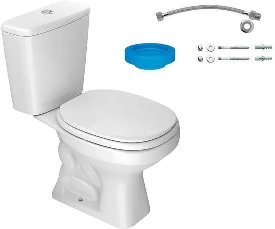 Kit Bacia com Caixa Acoplada e Assento Aspen Branco + Conjunto de Fixação Flexível e Anel de Vedação - KP.750.17 - Deca - Deca