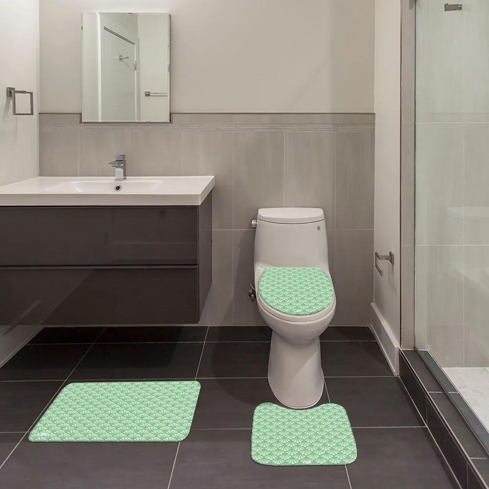 Jogo de Banheiro Ornamental VerdeÚnico