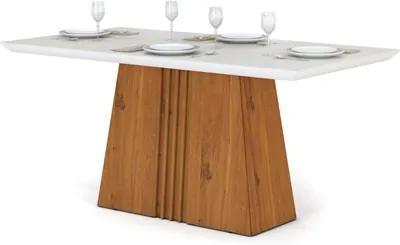 Mesa para Sala de Jantar Itália 170cm Terrara/Off White - DJ Móveis