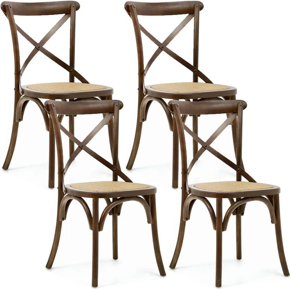 Kit 04 Cadeiras Para Sala de Jantar Cozinha Blair Canela - Gran Belo