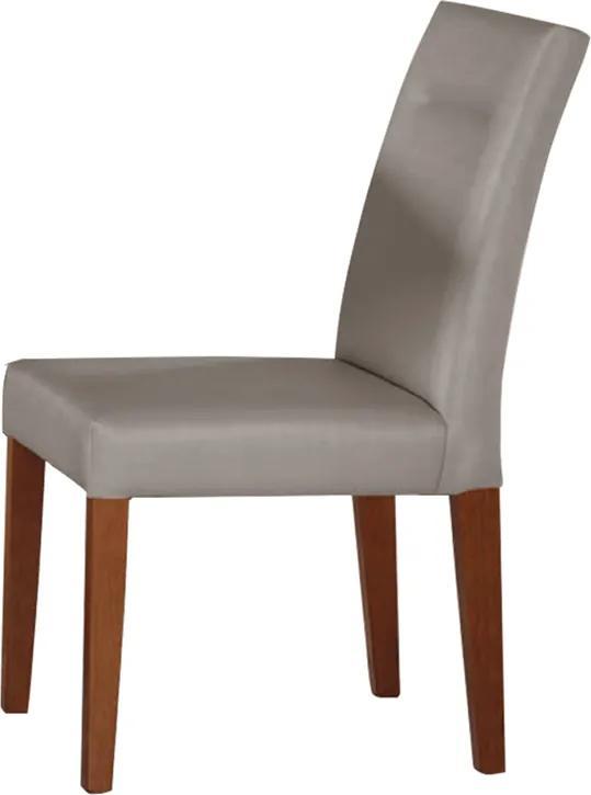 Cadeira Diana Estofada Facto Cinza / Nogueira