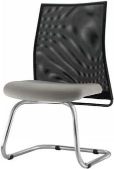 Cadeira Liss Assento Courino Cinza Claro Base Fixa Cromada - 54667 Sun House