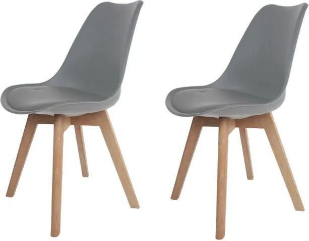 Conjunto 2 Cadeiras Saarinen Wood Cinza - Concept