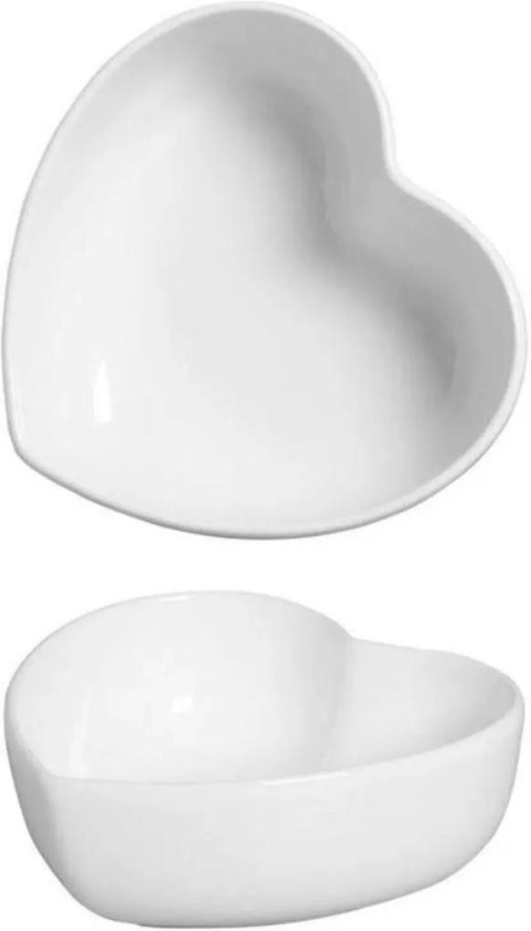 Bowl Coração em Cerâmica 8x7cm Branco – Silveira