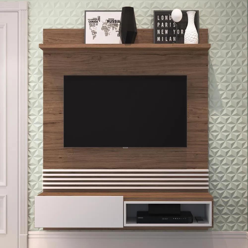 Painel para TV Até 55 Polegadas 1 Porta Est102 Branco - Estilare Móveis