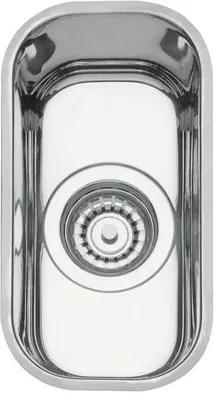 Cuba Retangular Inox Auxiliar 15 BL 15x30cm Alto Brilho + Válvula 4 12 Tramontina 94028202